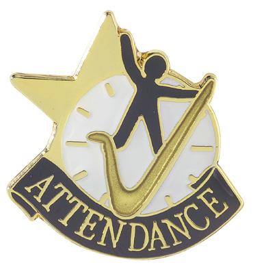 ACHIEVEMANT PINS ATTENDANCE