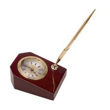 SMALL DESK CLOCK WITH PEN RW-5