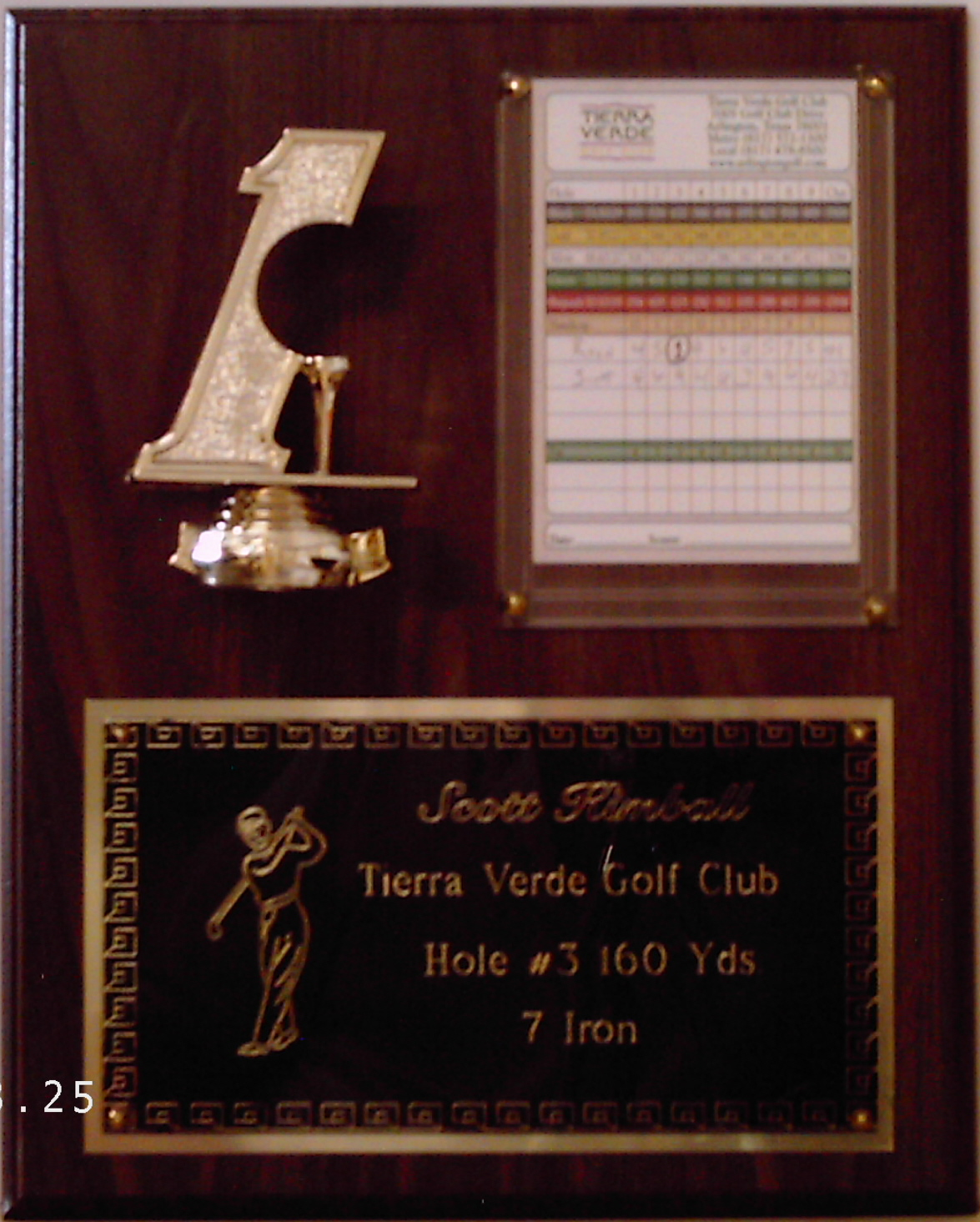 FB-ACE HOLE - IN - ONE PLAQUE 12